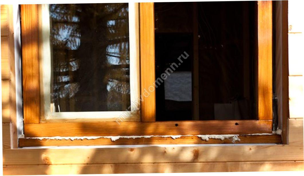 Как сделать отлив на деревянное окно 887